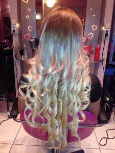 Ombre festés, hajhosszabbítás