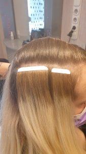Ragasztócsíkos hajhosszabbítás