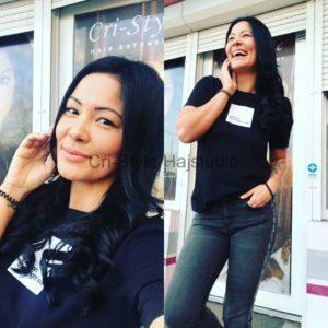 Koholák Alexa hajhosszabbítása a Cri-Style hajstúdióban készül
